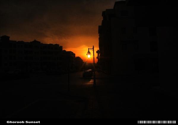 Pedestrian light sunset by astyag
