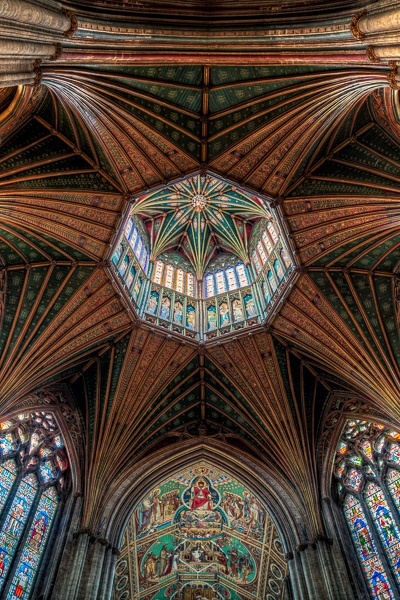 Ceiling detail Ely cathedral by Phil_Bird