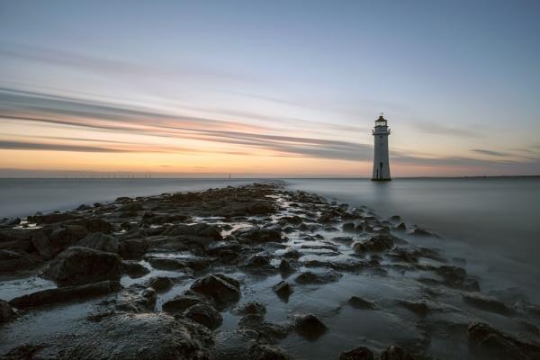 "\""Sun Setting at Perch Rock Lighthouse\"" by razorraymac"