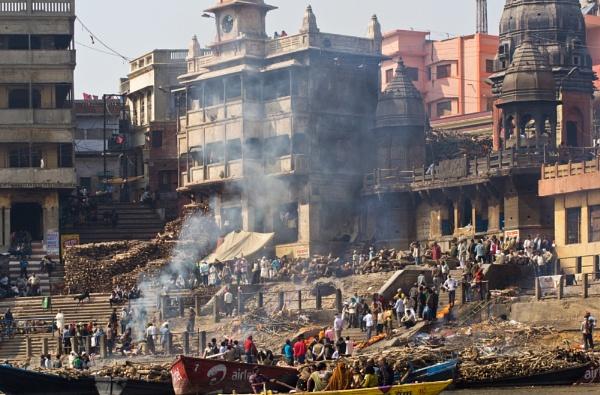 The Burning Ghats of Varanasi by WeeGeordieLass