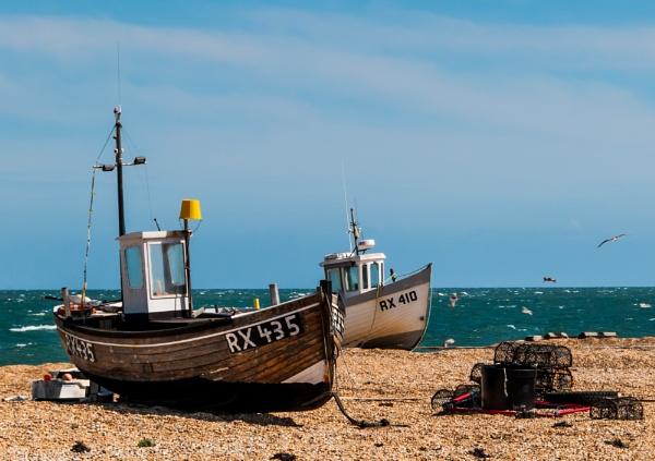 2 boats  and crab pots by Nikonuser1