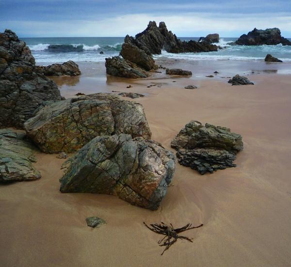 Rocks at Sango Beach, Durness, Sutherland, Scotland by IanLuckock