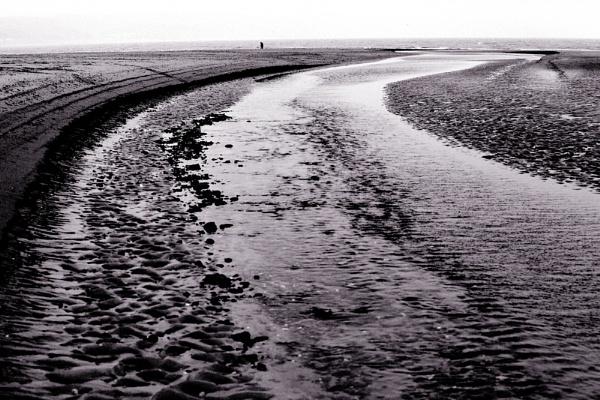 Black and White Beach by MrGoatsmilk
