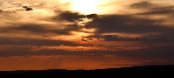 Highdown Sunset by mrpjspencer