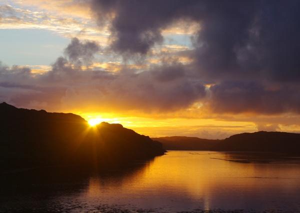 Sunset over Loch Inshard, Sutherland, Scotland by IanLuckock