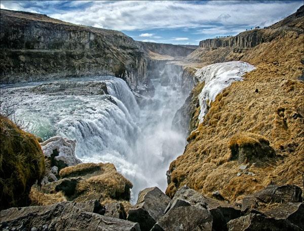 Gulfoss Waterfall by bikerbob