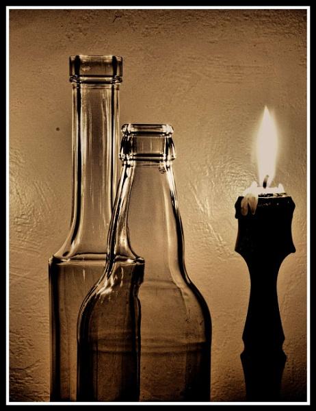 Glass, Bottle, Bottle, Glass by Andysnapper