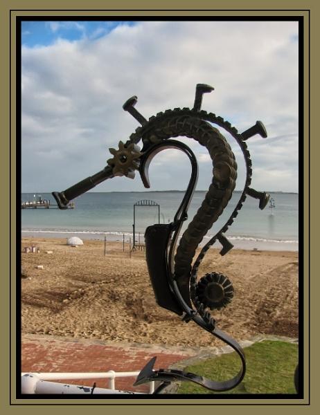 Seahorse Sculpture by Jocelia