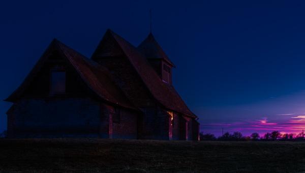 Sunset on Romney Marsh by Pwenham