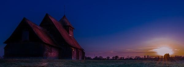 Romney Marsh at Sunset by Pwenham