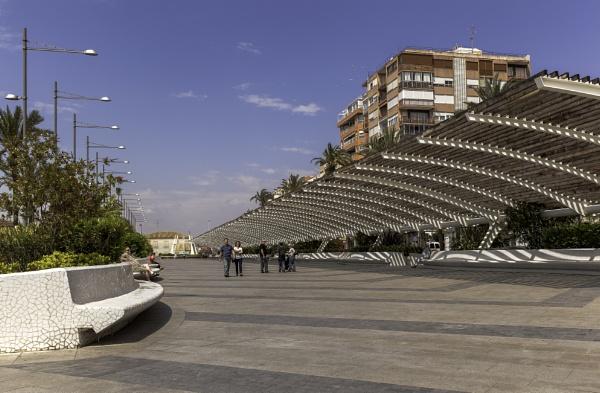 The long shaded promenade area at Torrevieja by pdunstan_Greymoon
