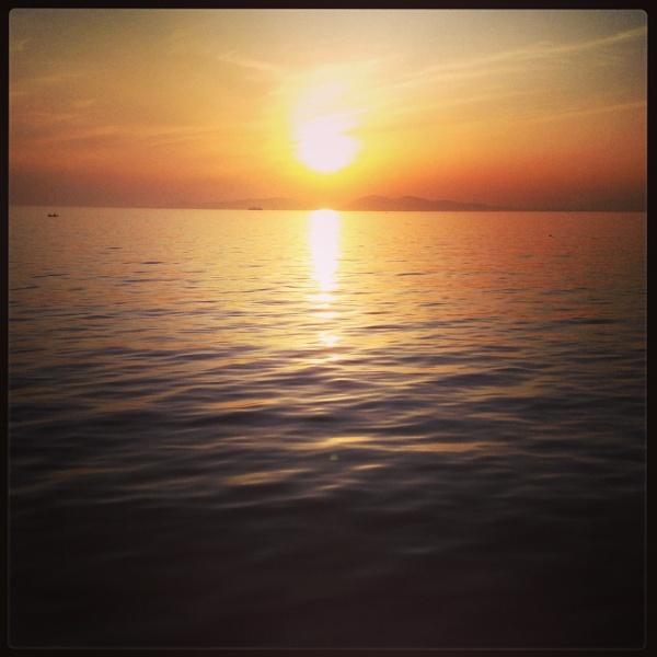Aegean Sunset by Pearybhoy