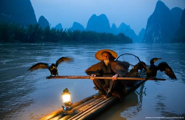 The Cormorant Fisherman of Yangshuo, China by awhyu