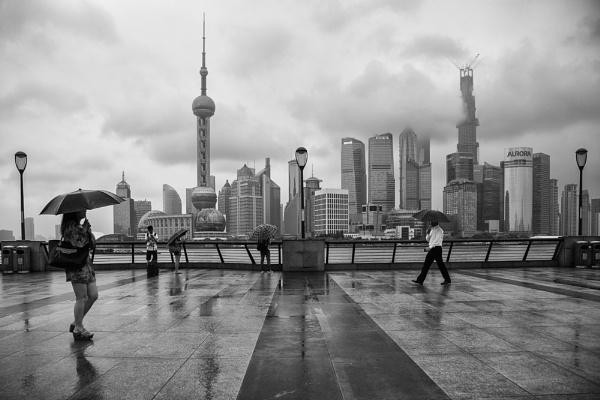 Promenading in Pudong