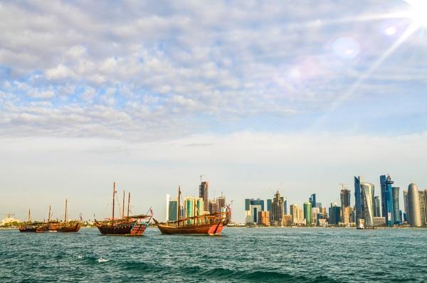 Doha Cityscape by ChuckySenedo