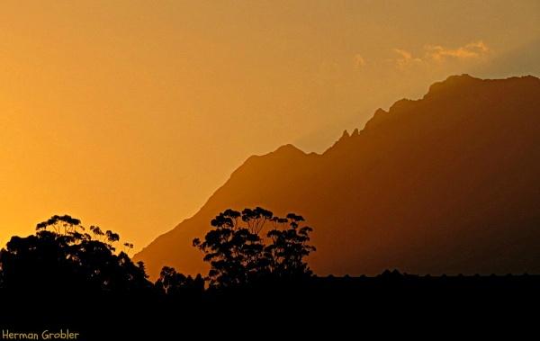 Golden Sunset by Hermanus