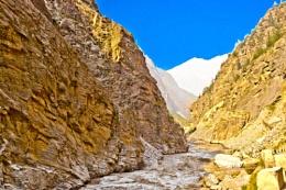 The roaring Sutlej river ..