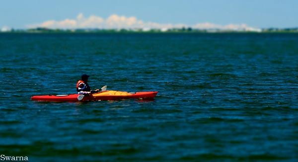 Canoeing - Cresent Beach, White Rock, BC by Swarnadip