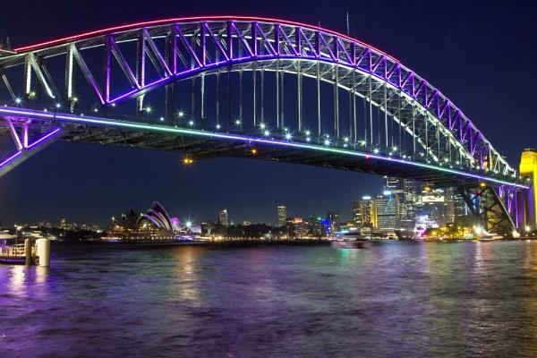 Harbour Bridge during Vivid Light Festival by OzzyApple