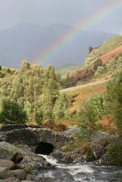 Water, Rainbow & Mountain