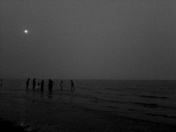 Sea Beach at Bakkhali at dusk by SubhroGuha