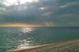 Pebble beach at Weymouth Dorset