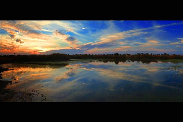 Cloudy Sunset by konu