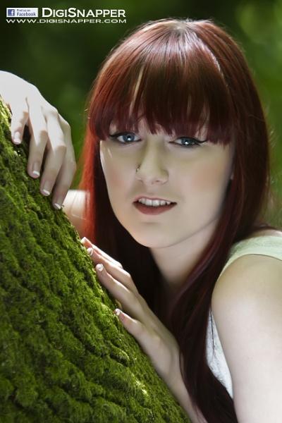 Abigail against tree by cyman1964uk