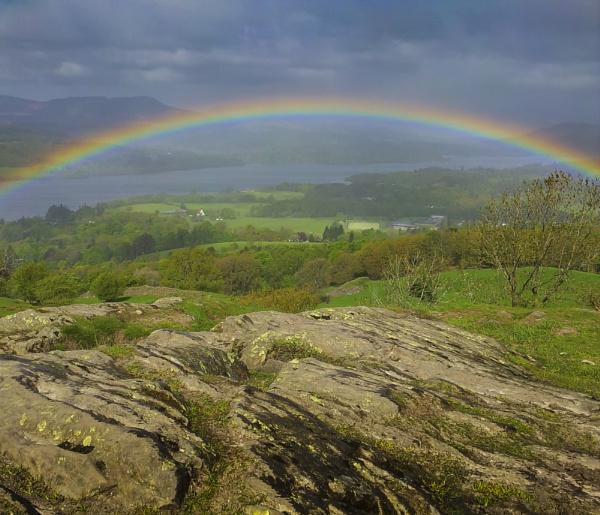 Cumbrian Rainbow by rainfall