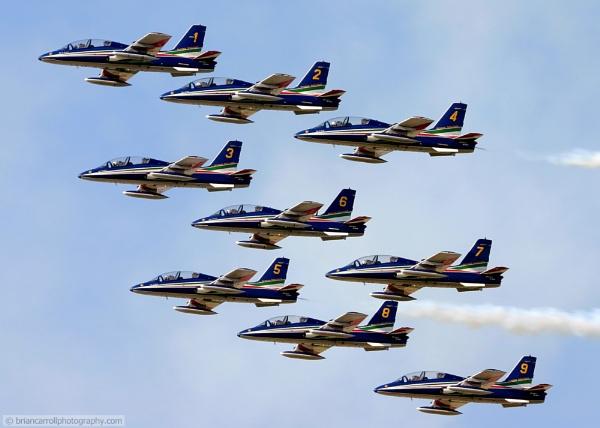 Freece Tricolori Italian Air Display Team by brian17302