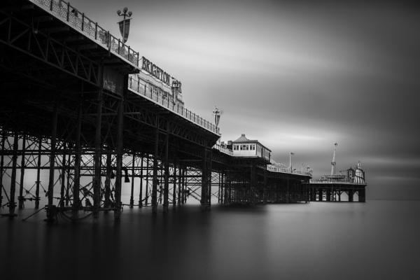 Brighton Pier_BW by bigstorks