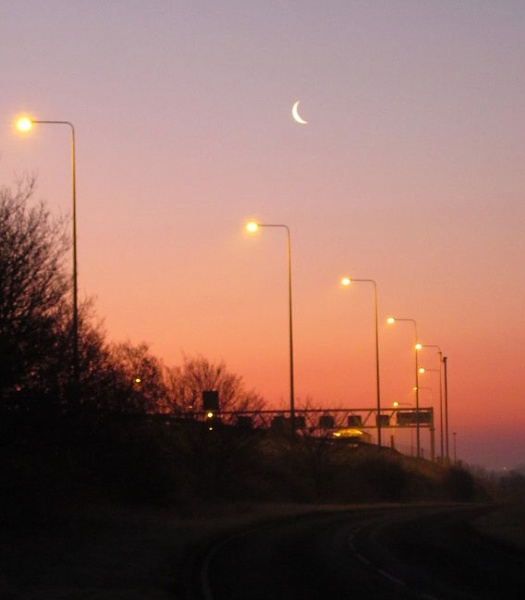 The  M25  at  dawn. by pantheonrider