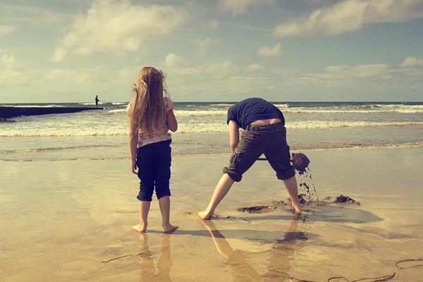 Beach Play by Audran