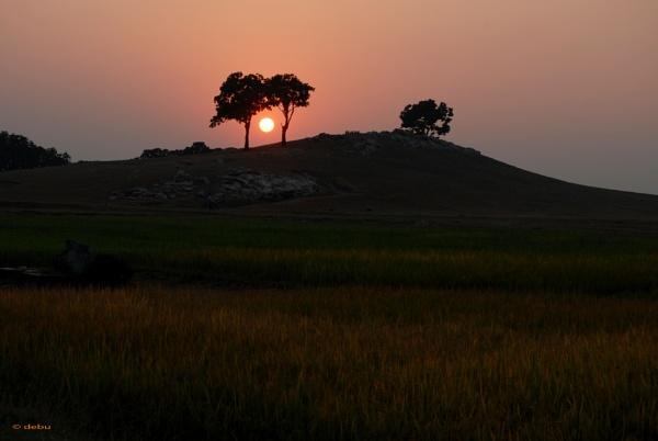 Sunset in Simultala by debu