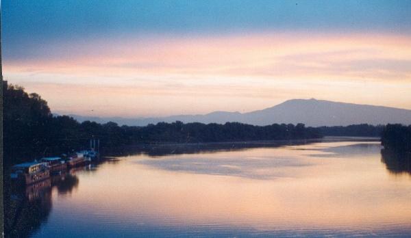 The River Rhône at Dawn by SabineFaureSAMlle