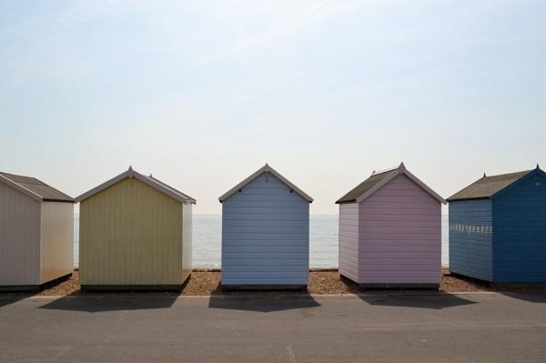 Beach Huts by Hinksy
