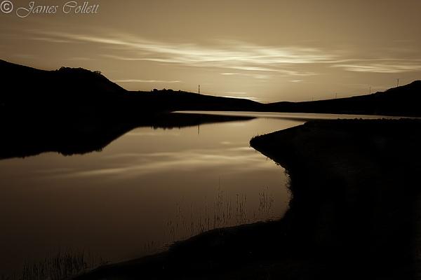 Crosshill Loch, Silhouette, Campbeltown, Kintyre, Argyll by jcollett