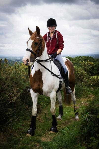 Francesca on her horse by AlanJ
