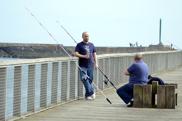 It\'s hard work this fishing lark! by lenocm