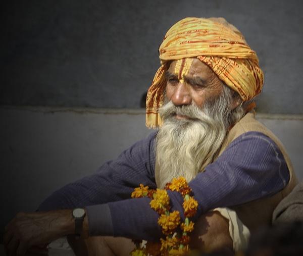 Holy man at Pushkar fair by Stuarty