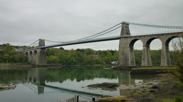 Thomas Telford\'s Menai Bridge by scotsjerry