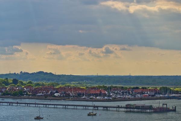 Sunbeams over Hythe Marina and Pier by Ian01