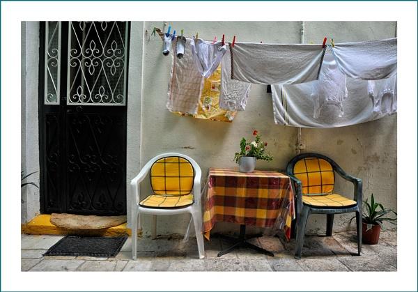 Corfu Street Scene by petejeff