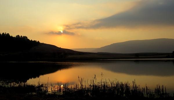 Sunset at Waterwoods by Hermanus