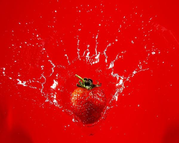 Strawberry splash by turniptowers