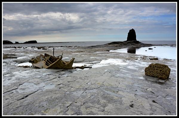 Saltwick Bay Wreck & Black Nab by Westroyd08