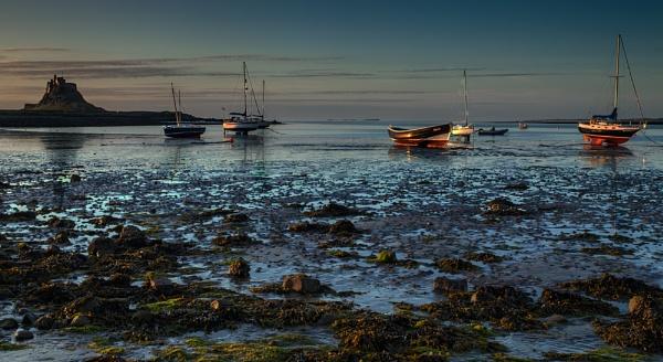 Sun Rise On Lidisfarne by Briwooly