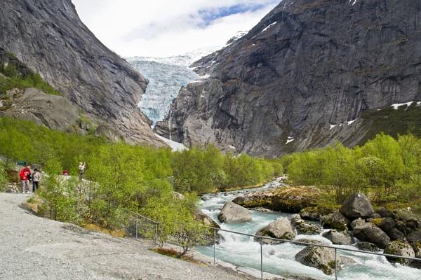 Briksdal Glacier, Nordfjord, Norway by Ian01