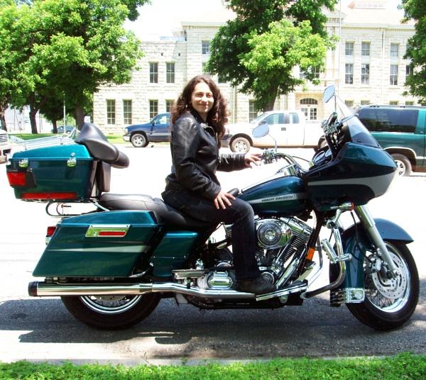 Boryana on the Harley by DavidInBulgaria