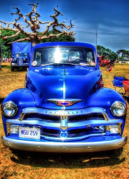Blue Chevy Pickup by Hamlin
